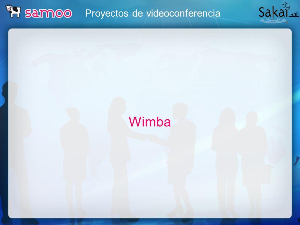 Proyectos de videoconferencia Wimba