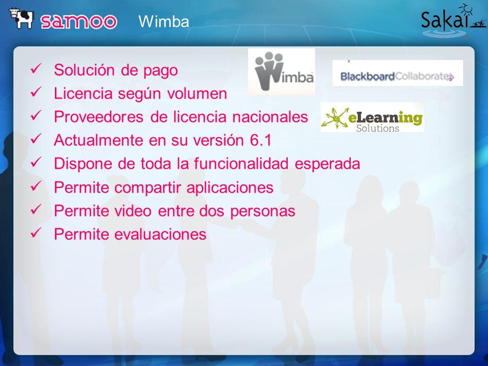 Solución de pago Licencia según volumen Proveedores de licencia nacionales Actualmente en su versión 6.1 Dispone de toda la funcionalidad esperada Per