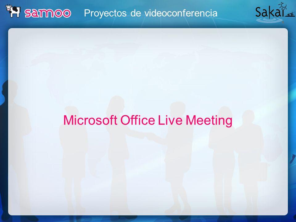 Proyectos de videoconferencia Microsoft Office Live Meeting