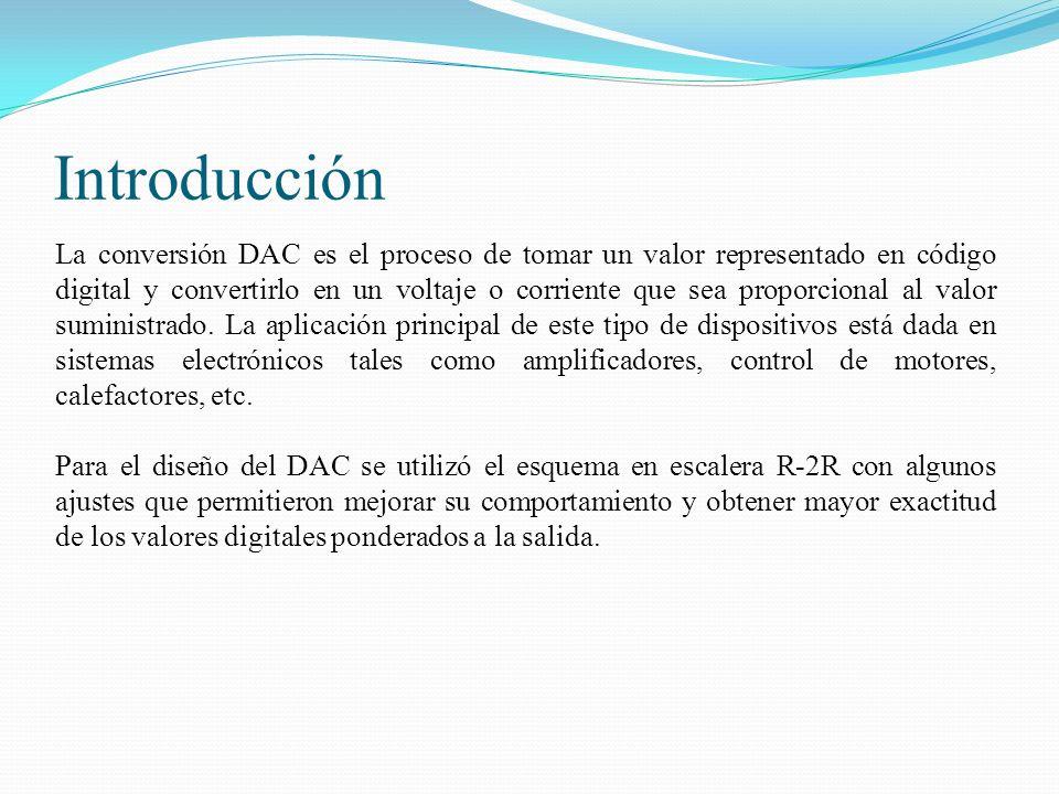 Introducción La conversión DAC es el proceso de tomar un valor representado en código digital y convertirlo en un voltaje o corriente que sea proporci
