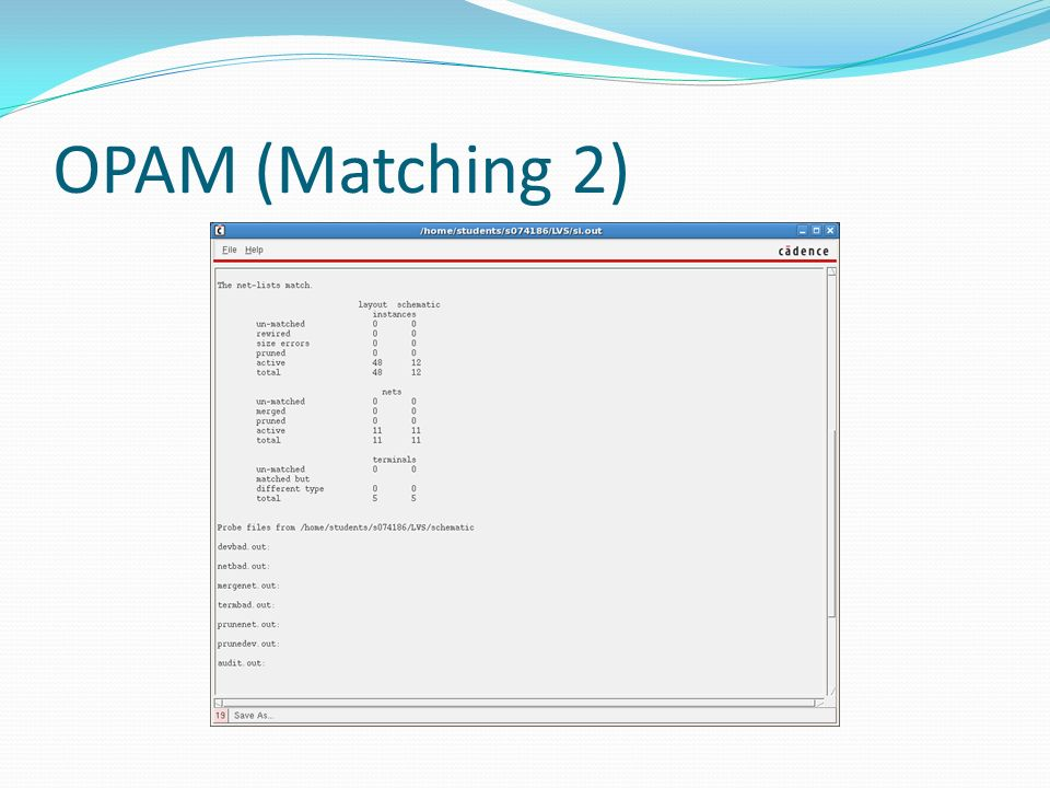OPAM (Matching 2)