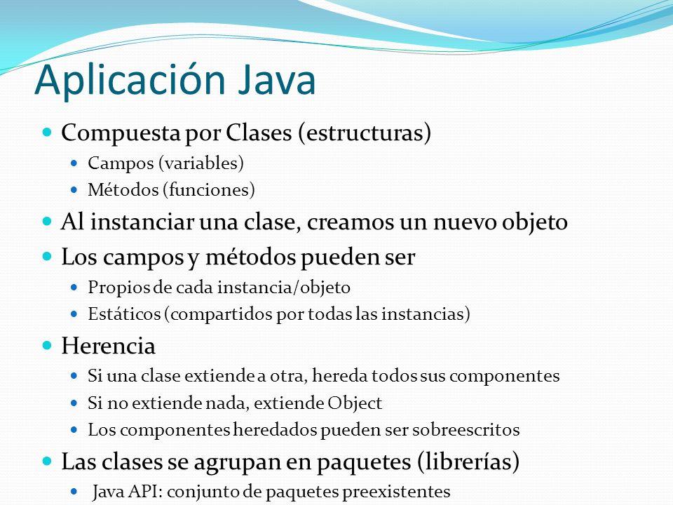 Compuesta por Clases (estructuras) Campos (variables) Métodos (funciones) Al instanciar una clase, creamos un nuevo objeto Los campos y métodos pueden