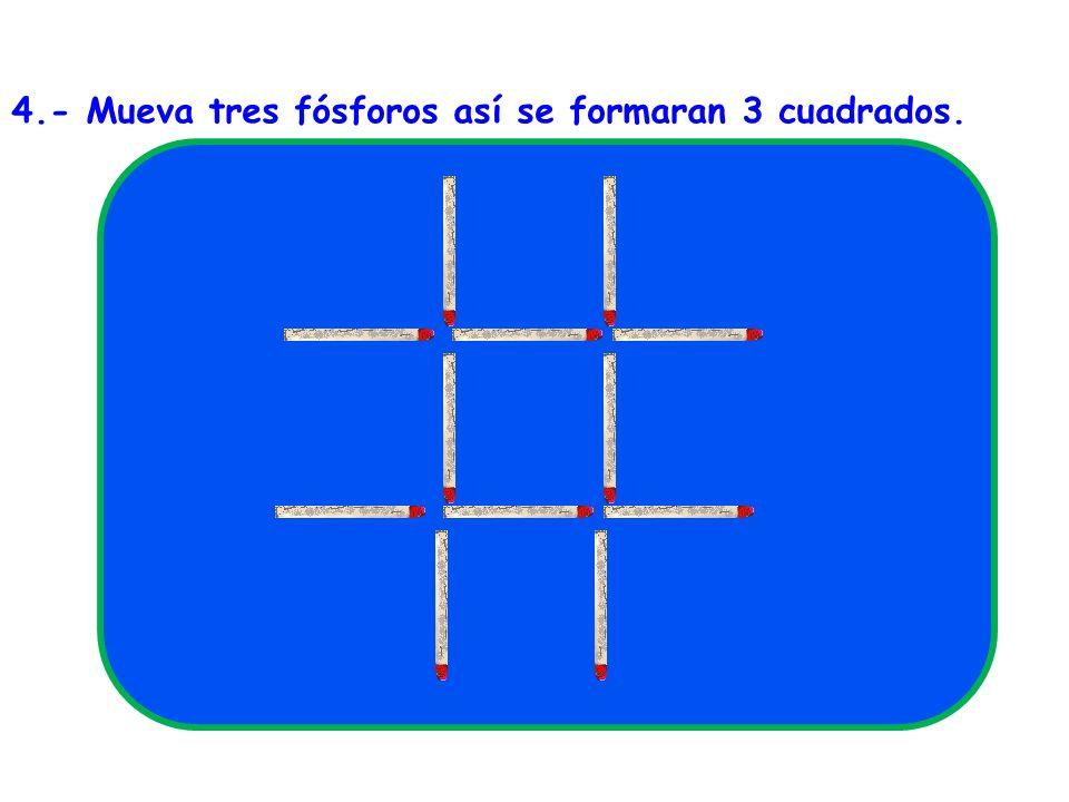SOLUCIÓN Figura 14 10 fósforos En el interior del rectángulo formado por diez fósforos hay muchos gusanitos en fila...