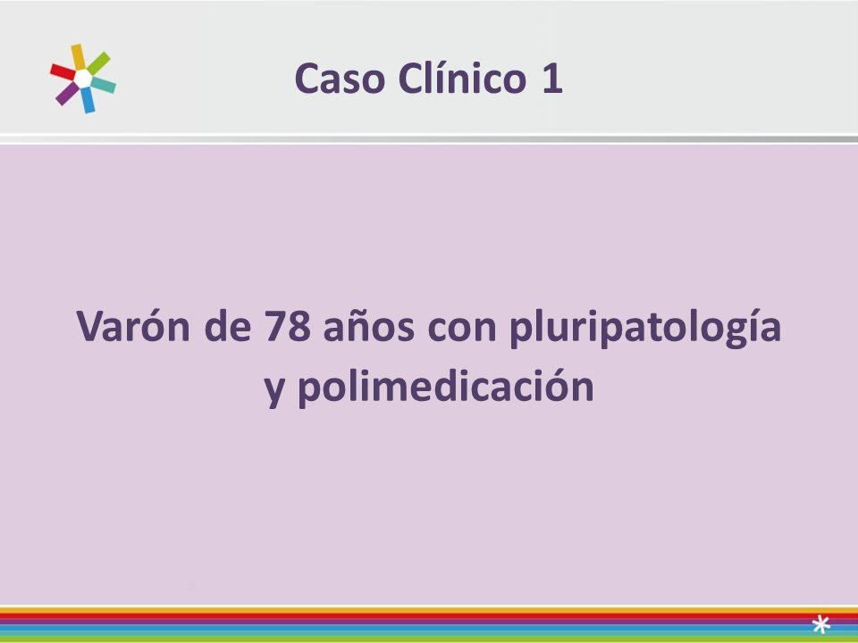 Caso Clínico 1 Varón de 78 años con pluripatología y polimedicación