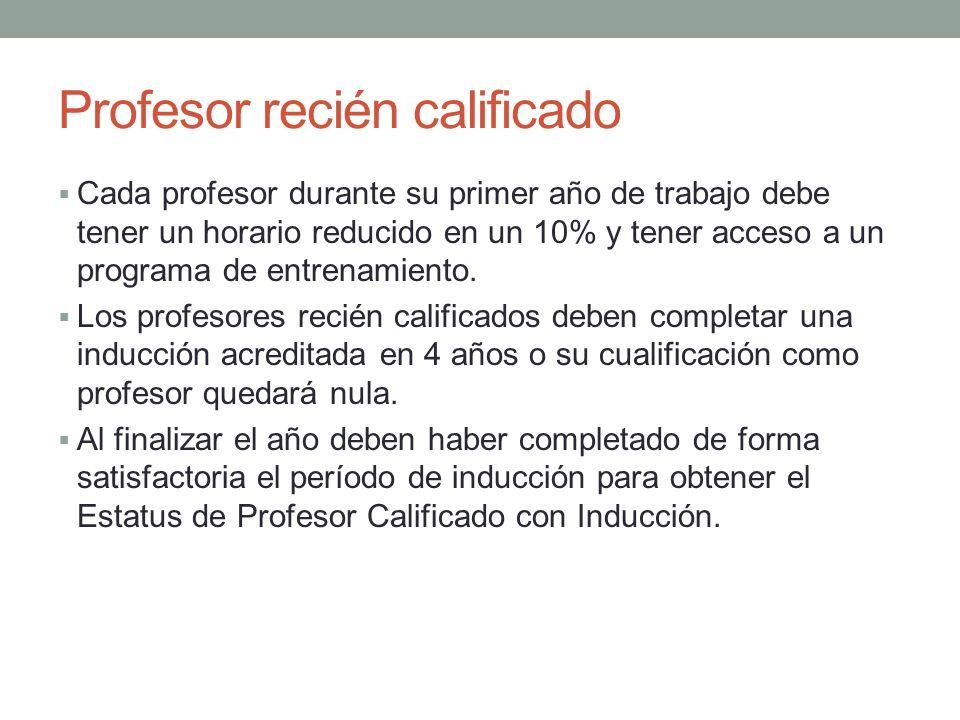 Profesor con experiencia Tienen derecho a formación y desarrollo continuo.
