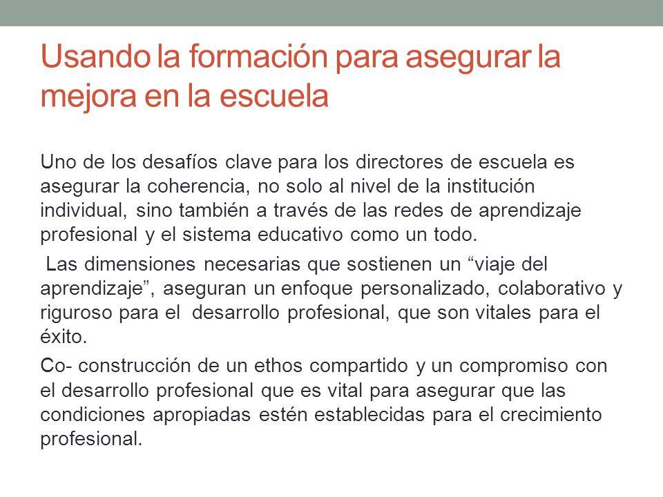 El Desarrollo profesional es esencial para asegurar que las estrategias de enseñanza son actuales, frescas y dinámicas.
