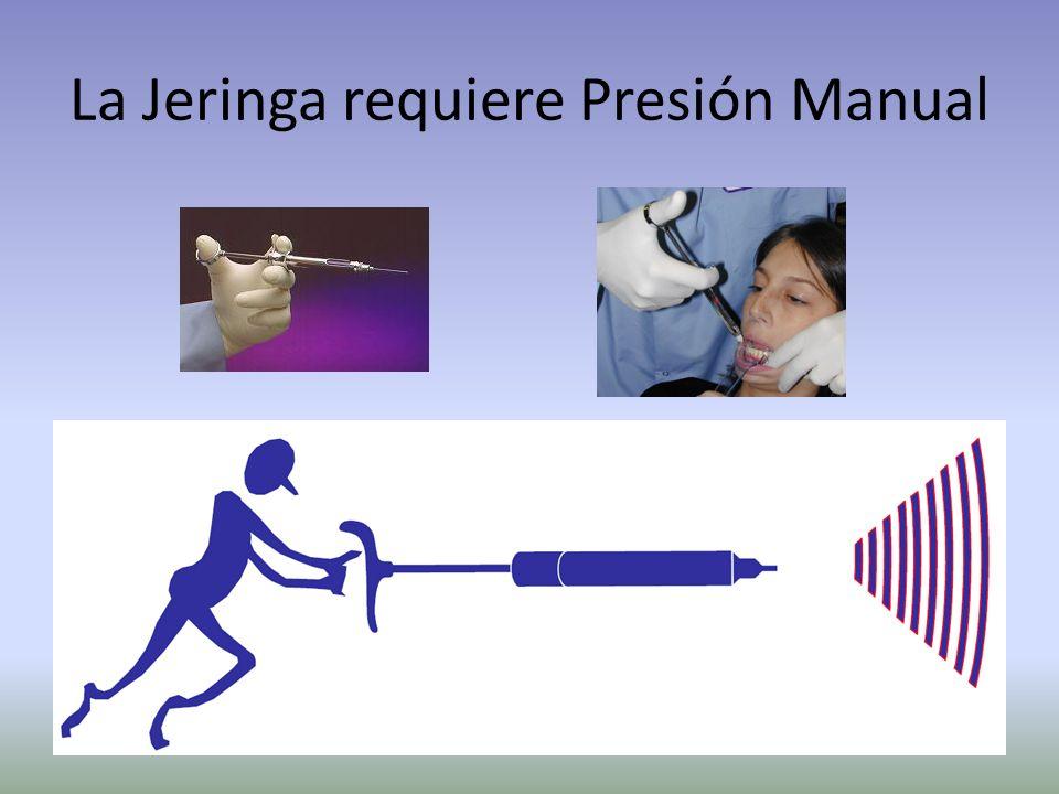 Tecnología Base Medición precisa del flujo – Razón x Volumen = Razón de flujo Control preciso de la aguja – Con la yema de los dedos – Sujeción tipo l