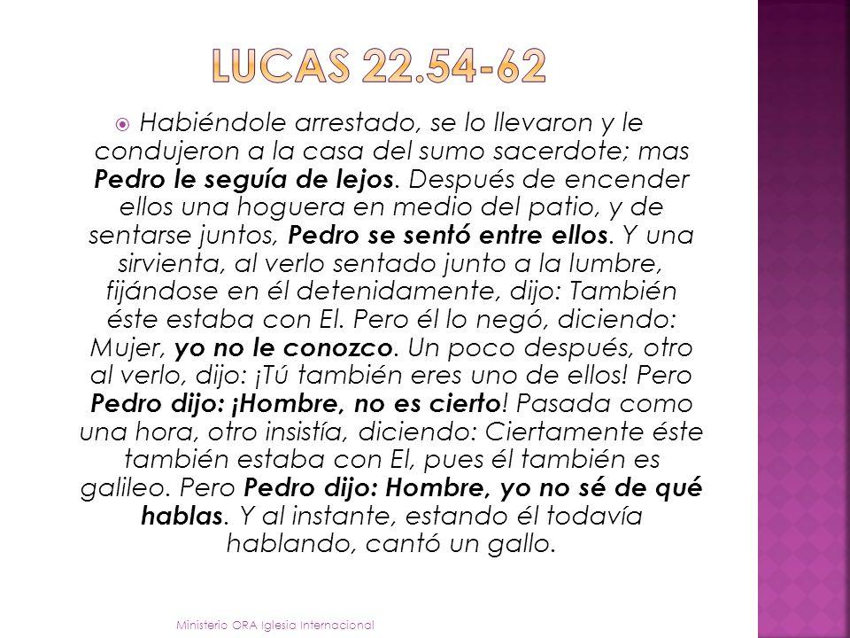 SIMON PEDRO un compromiso negativo en el momento de la crisis Lucas 22-54 - 62 Ministerio ORA Iglesia Internacional