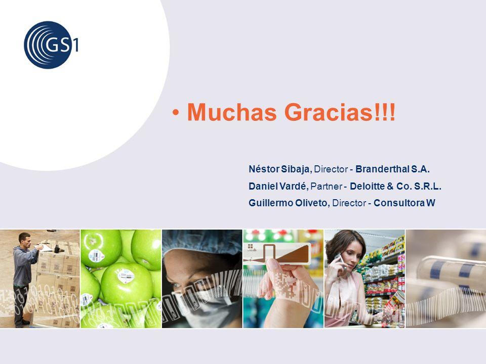 Muchas Gracias!!! Néstor Sibaja, Director - Branderthal S.A. Daniel Vardé, Partner - Deloitte & Co. S.R.L. Guillermo Oliveto, Director - Consultora W