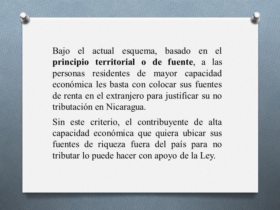 Bajo el actual esquema, basado en el principio territorial o de fuente, a las personas residentes de mayor capacidad económica les basta con colocar s
