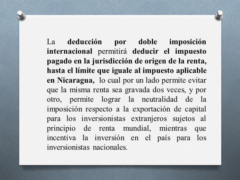 La deducción por doble imposición internacional permitirá deducir el impuesto pagado en la jurisdicción de origen de la renta, hasta el límite que igu