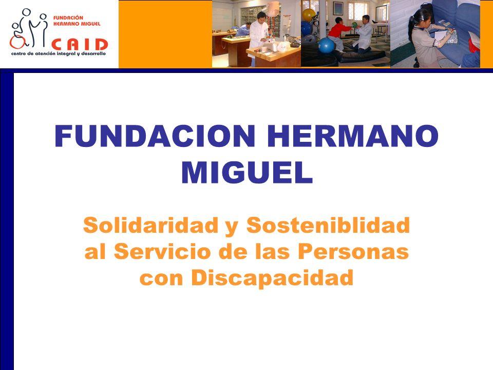 FUNDACION HERMANO MIGUEL Solidaridad y Sosteniblidad al Servicio de las Personas con Discapacidad