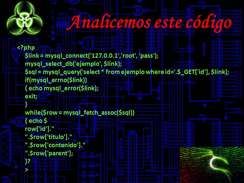 Analicemos este código