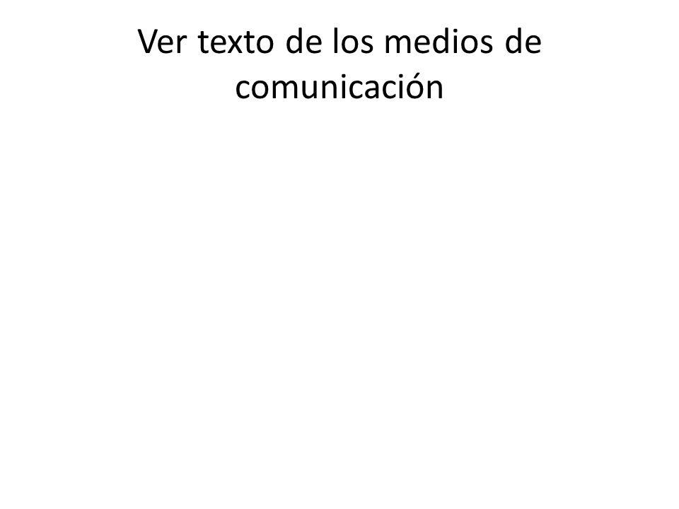 Mediación texto de los medios de comunicación AL COMENZAR: – Activación de los conocimientos previos fijación de lo leido por las redes de conocimiento ¿Qué sabes a cerca de los medios de comunicación?, ¿Cuáles conoces.