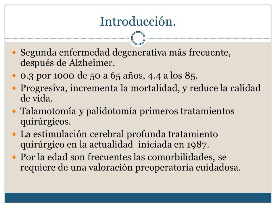 Efectos colaterales de la estimulación.
