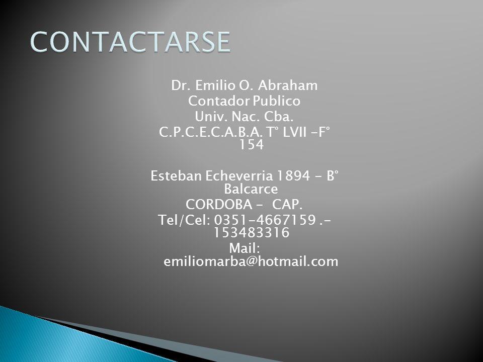 Dr. Emilio O. Abraham Contador Publico Univ. Nac.