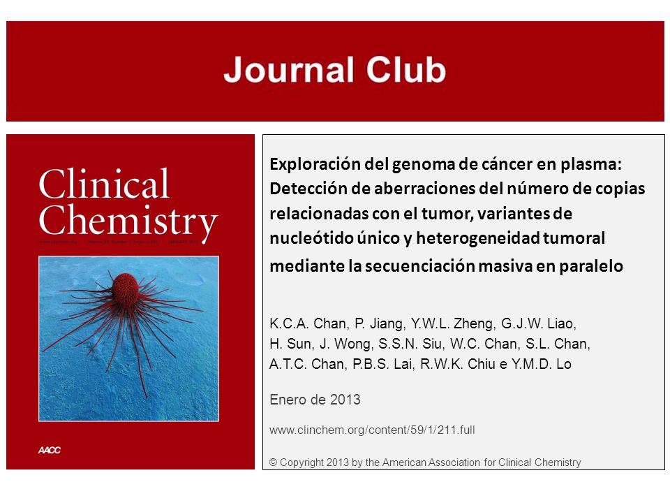 Exploración del genoma de cáncer en plasma: Detección de aberraciones del número de copias relacionadas con el tumor, variantes de nucleótido único y
