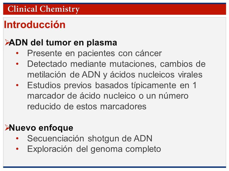 © Copyright 2009 by the American Association for Clinical Chemistry Introducción ADN del tumor en plasma Presente en pacientes con cáncer Detectado me