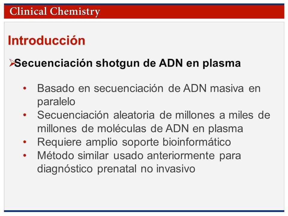 © Copyright 2009 by the American Association for Clinical Chemistry Introducción Secuenciación shotgun de ADN en plasma Basado en secuenciación de ADN