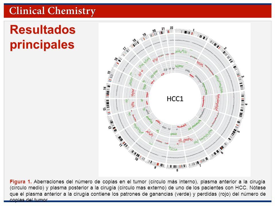 © Copyright 2009 by the American Association for Clinical Chemistry Resultados principales Figura 1. Aberraciones del número de copias en el tumor (cí