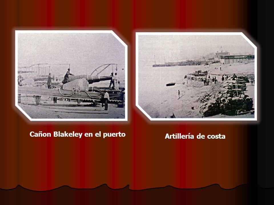 Cañon Blakeley en el puerto Artillería de costa