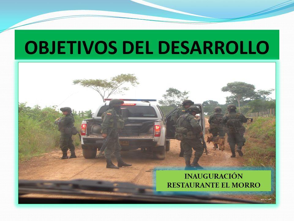 OBJETIVOS DEL DESARROLLO 2. RECUPERAR LA GOBERNABILIDAD Y EL FORTALECIMIENTO INSTITUCIONAL