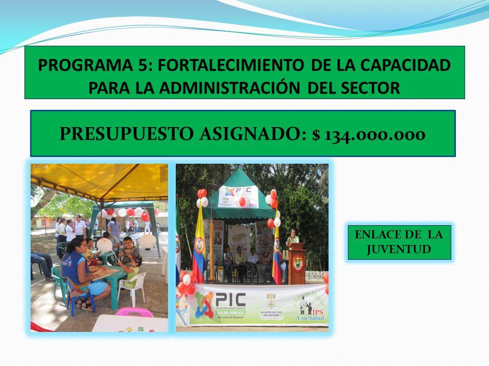 PROGRAMA 4: CONECTIVIDAD PARA LA CALIDAD PRESUPUESTO ASIGNADO: $42.690.000 PROYECTO A EJECUTAR: DOTACIÓN COMPUTADORES REDES INTERDISCIPLINARIAS Y GRUP