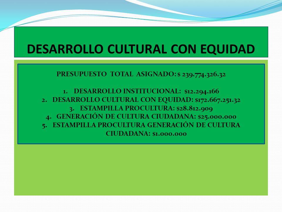 PROGRAMAS DE DESARROLLO CULTURAL