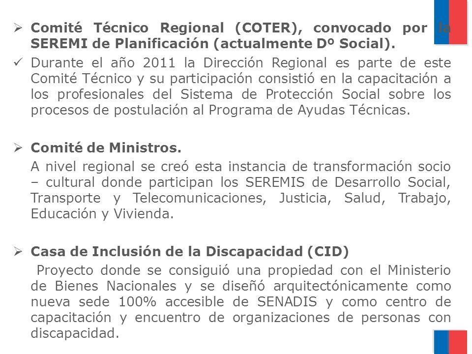 Comité Técnico Regional (COTER), convocado por la SEREMI de Planificación (actualmente Dº Social).