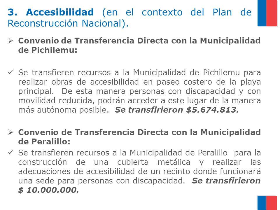 3. Accesibilidad (en el contexto del Plan de Reconstrucción Nacional).