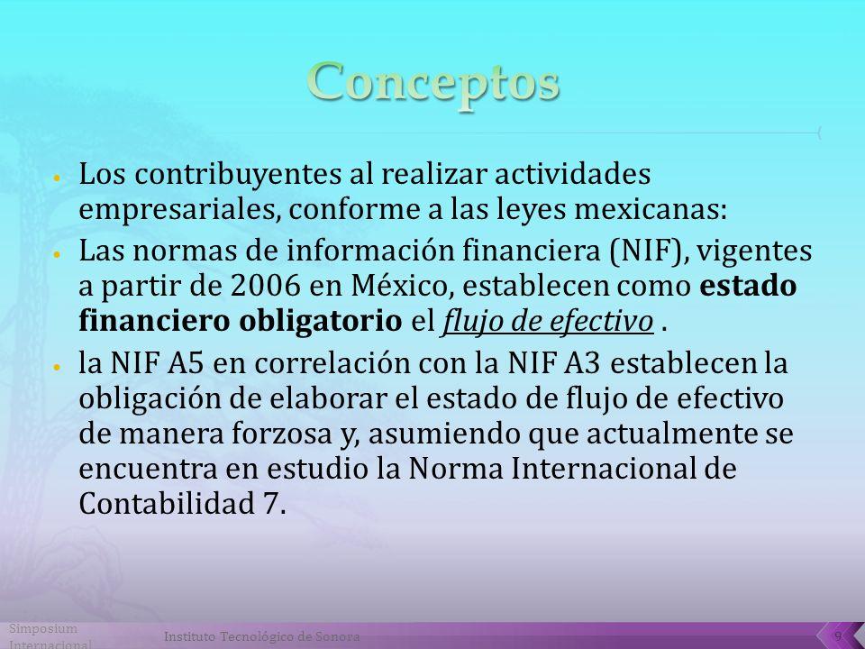 Simposium Internacional Instituto Tecnológico de Sonora10 Presente una imagen financiera cohesionada de las actividades de una entidad, que actualmente en la norma mexicana se le conoce como sustancia económica.
