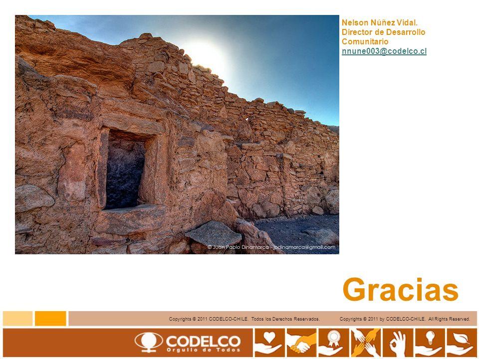 16 Copyrights © 2011 CODELCO-CHILE. Todos los Derechos Reservados. Copyrights © 2011 by CODELCO-CHILE. All Rights Reserved. Nelson Núñez Vidal. Direct