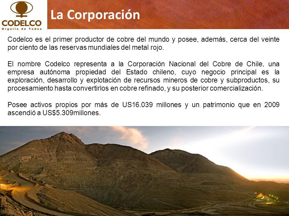 2 Copyrights © 2011 CODELCO-CHILE. Todos los Derechos Reservados. Copyrights © 2011 by CODELCO-CHILE. All Rights Reserved. La Corporación Codelco es e