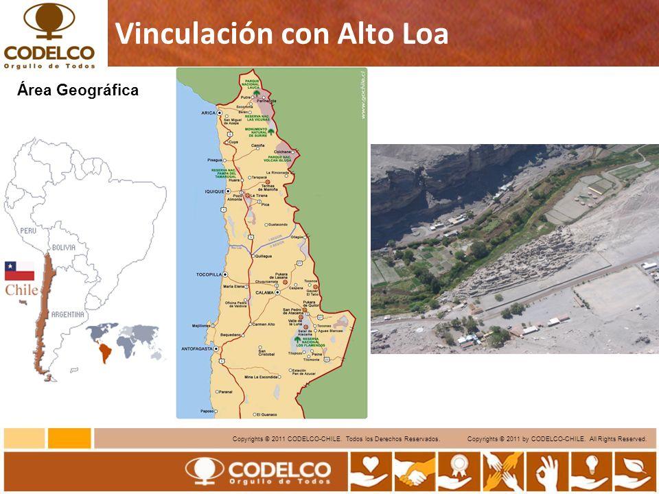 6 Copyrights © 2011 CODELCO-CHILE. Todos los Derechos Reservados. Copyrights © 2011 by CODELCO-CHILE. All Rights Reserved. Vinculación con Alto Loa Ár