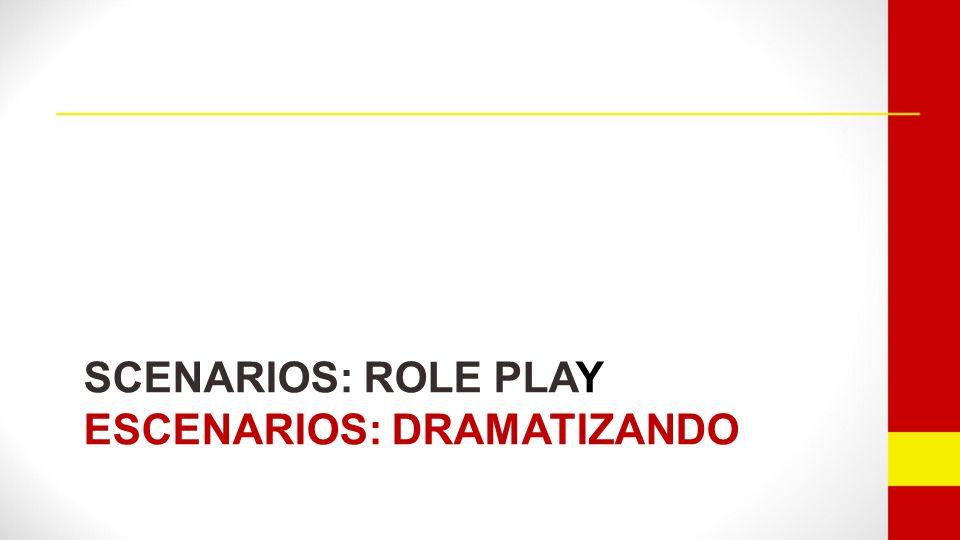 SCENARIOS: ROLE PLAY ESCENARIOS: DRAMATIZANDO