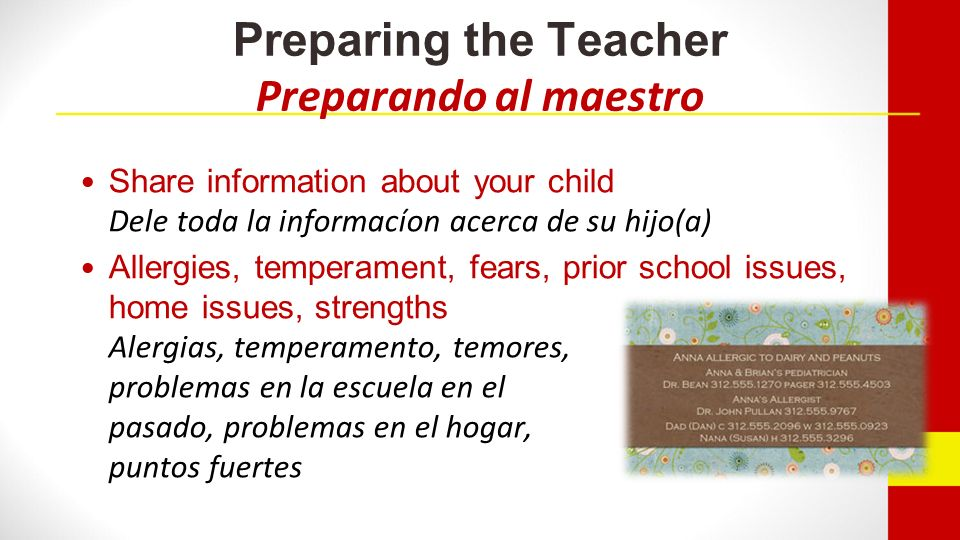 If your child is bored… / Si su hijo(a) está aburrido(a) en la escuela… Could you make class assignments that are more challenging for my child.
