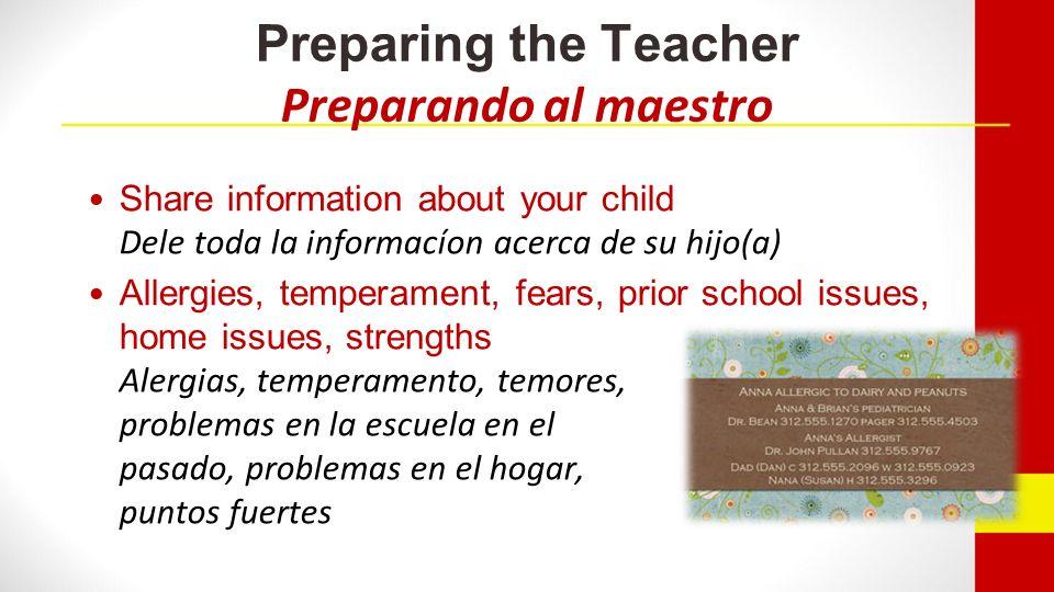 Preparing the Teacher / Preparando al maestro IEPs, 504c IEPs, 504c Youre expectations Sus expectativas