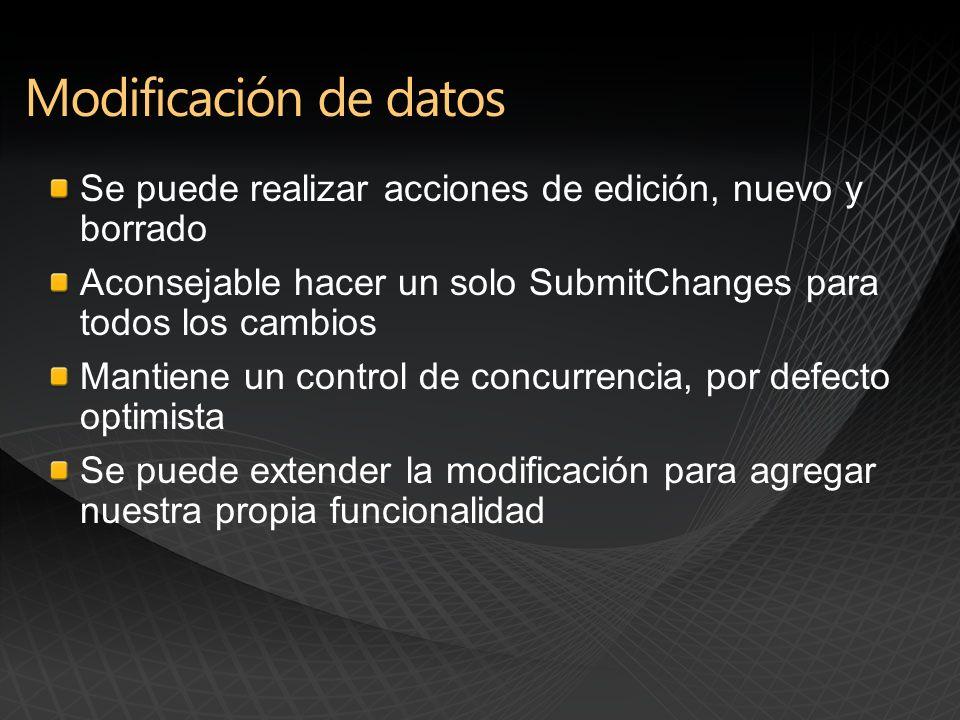 Extiende la estructura de las listas sin recompilar el assembly original mediante ICustomMapping Podemos mapear nuevas columnas a nuevas propiedades Maneja conflictos producidos en las nuevas columnas