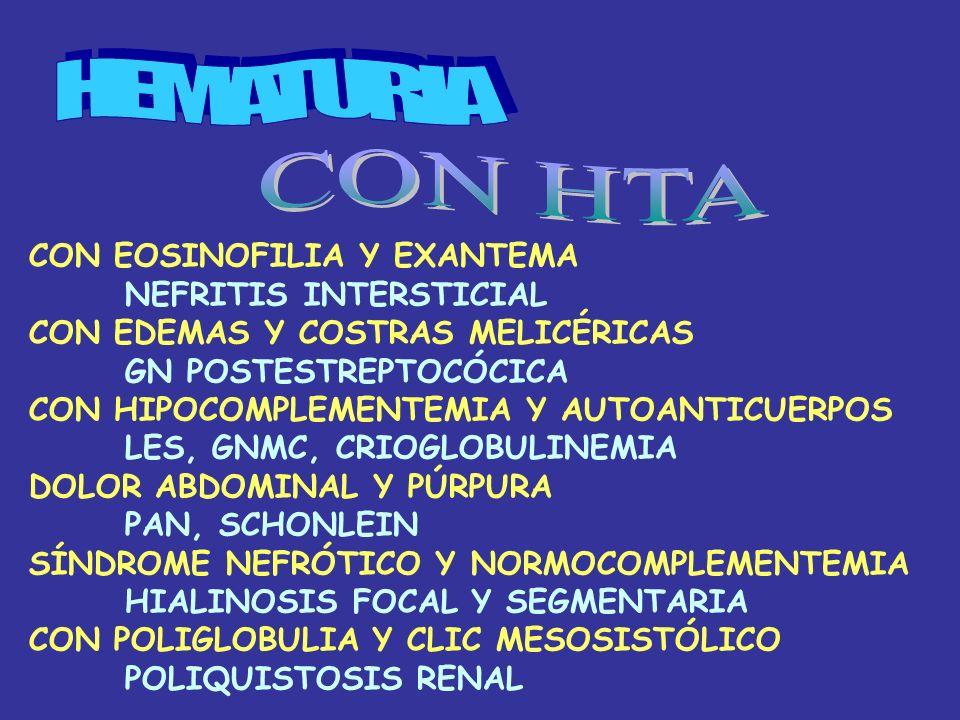 HIPERTENSIÓN + HIPOPOTASEMIA -PACIENTE DIABÉTICO -ESTENOSIS DE LA ARTERIA RENAL -CON NÓDULO TIROIDEO -MEN TIPO 2 -CON HEMIANOPSIA BITEMPORAL -TUMOR HIPOFISARIO ACTH - ALDOSTERONA ALTA Y RENINA BAJA -ALDOSTERONOMA -RENINA Y ALDOSTERONA NORMALES -TRATAMIENTO DIURÉTICO -NIÑO CON AMBIGÜEDAD SEXUAL -DÉFICIT DE 17 HIDROXILASA -EN MUJER EMBARAZADA CON EDEMAS -TOXEMIA (+ VÓMITOS?)