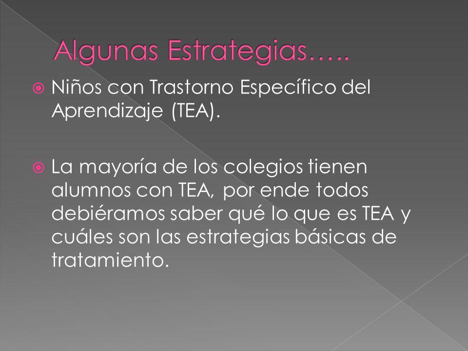 Niños con Trastorno Específico del Aprendizaje (TEA).