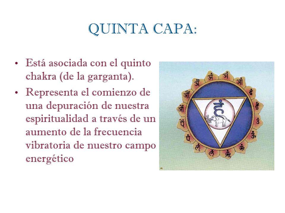 Está asociada con el quinto chakra (de la garganta). Representa el comienzo de una depuración de nuestra espiritualidad a través de un aumento de la f