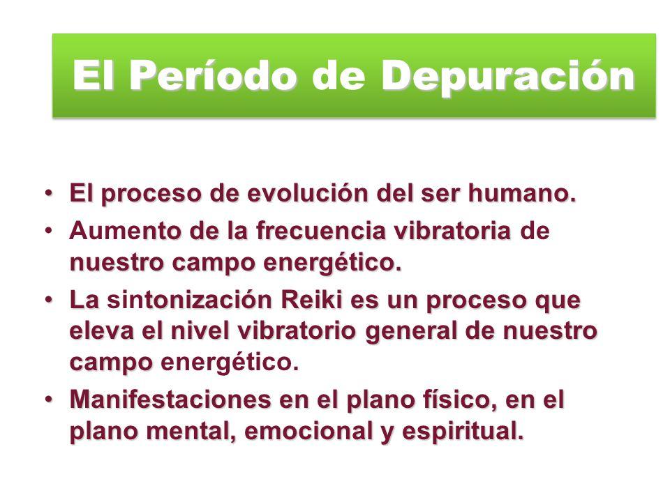 El Período Depuración El Período de Depuración El proceso de evolución del ser humano. Aumento de la frecuencia vibratoria de nuestro campo energético