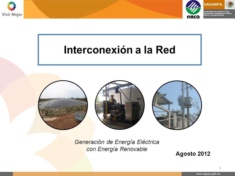 Agosto 2012 Generación de Energía Eléctrica con Energía Renovable 1