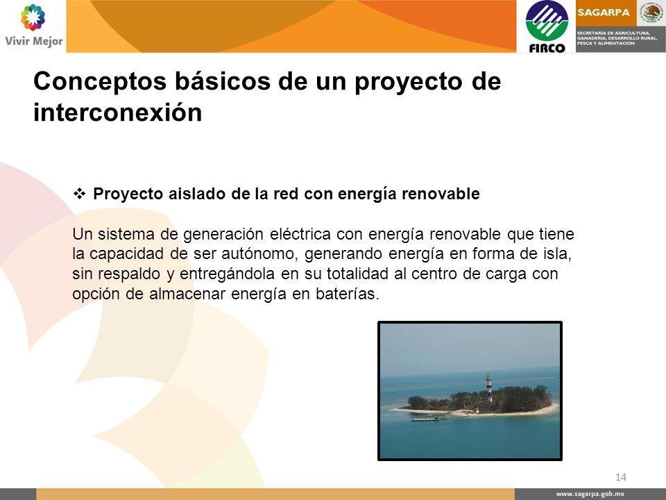 Proyecto aislado de la red con energía renovable Un sistema de generación eléctrica con energía renovable que tiene la capacidad de ser autónomo, gene