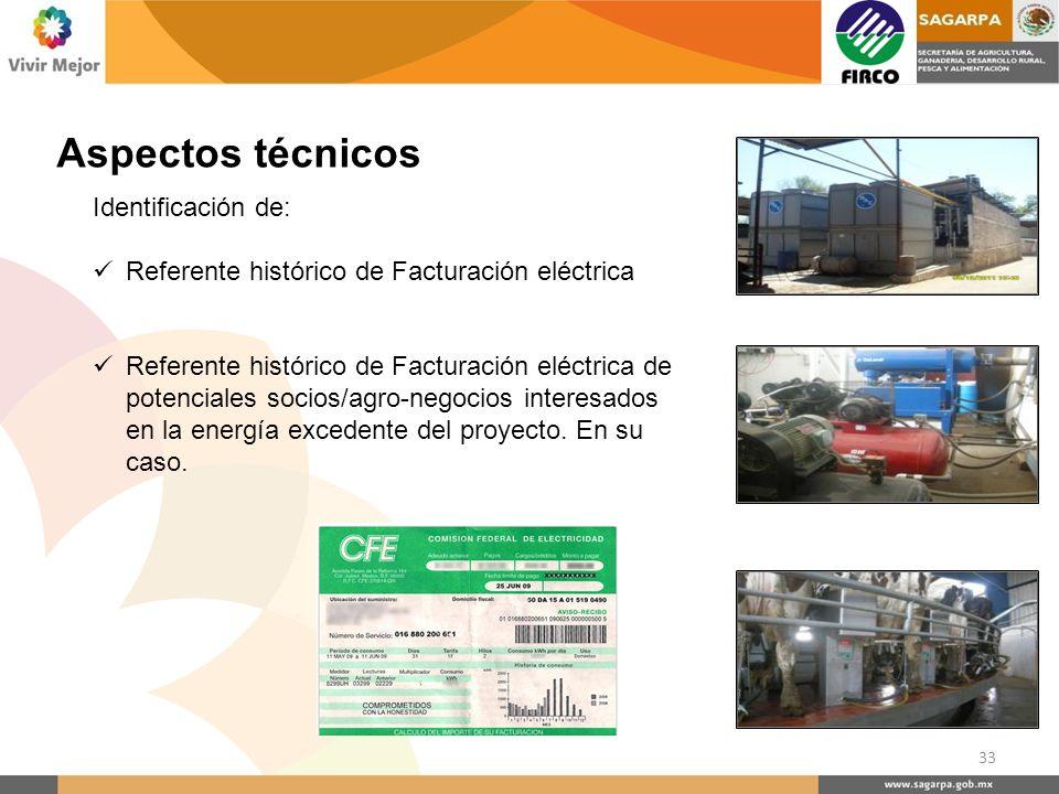 Identificación de: Referente histórico de Facturación eléctrica Referente histórico de Facturación eléctrica de potenciales socios/agro-negocios inter