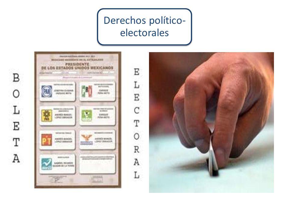 Derechos político- electorales