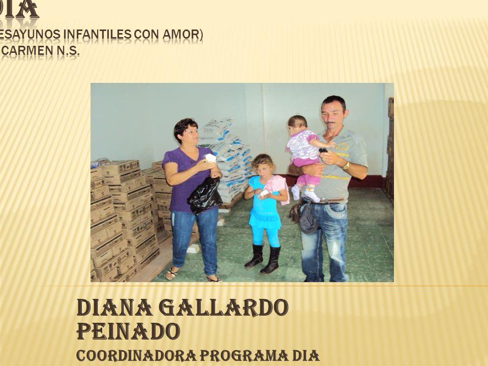 DIANA GALLARDO PEINADO Coordinadora Programa DIA