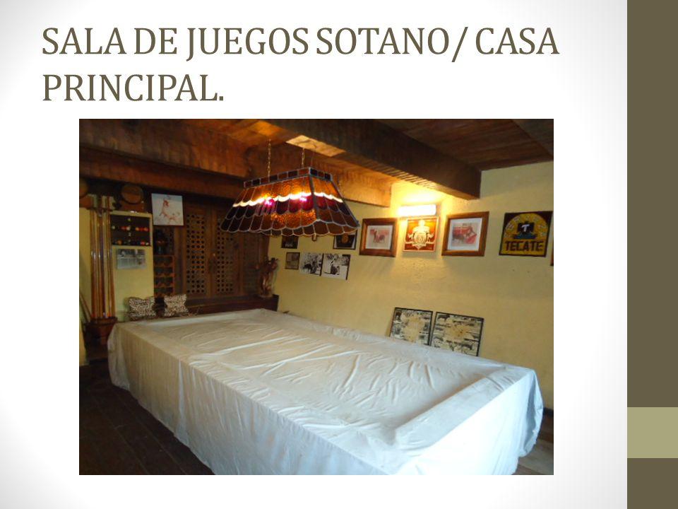 SALA DE JUEGOS SOTANO/ CASA PRINCIPAL.