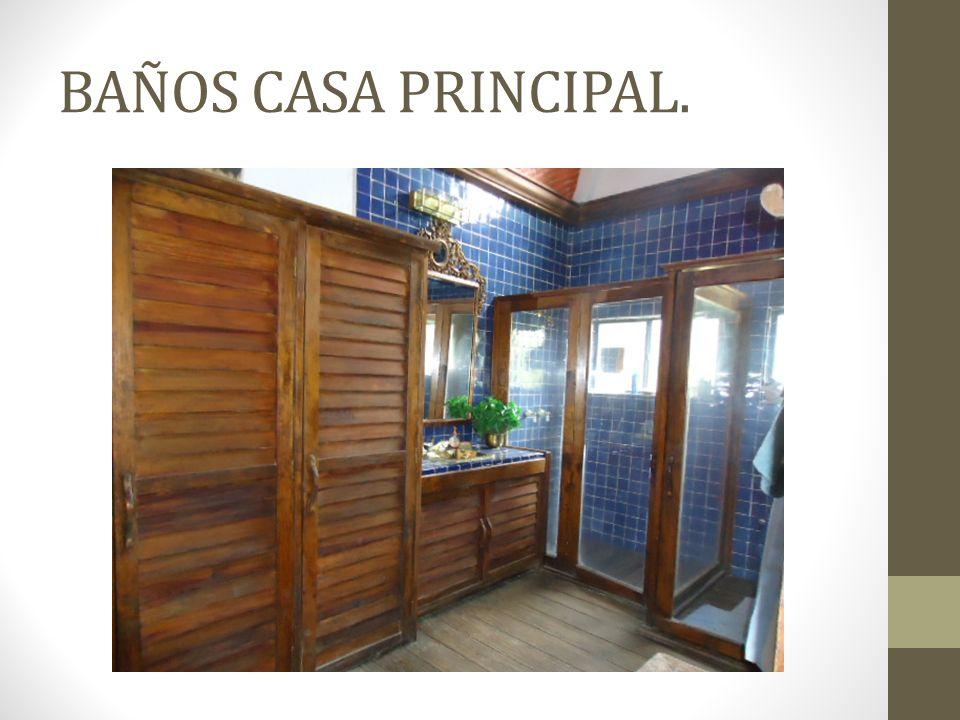 BAÑOS CASA PRINCIPAL.