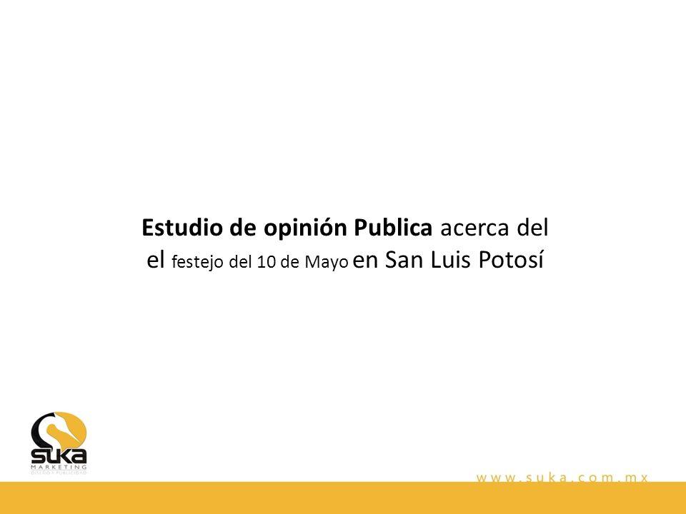 Estudio de opinión Publica acerca del el festejo del 10 de Mayo en San Luis Potosí